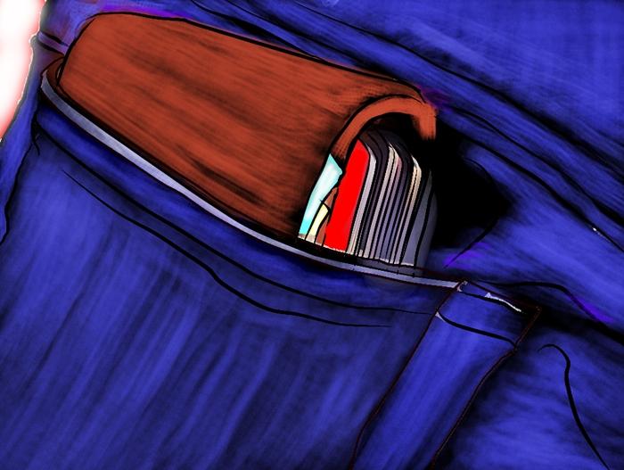 กระเป๋าเงินผู้ชาย บวม แน่นเกินไป